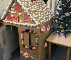 Life Size Gingerbread House Before And After